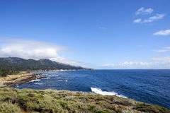 Looking towards Carmel Highlands - one of California's most picturesque areas Stock Photos