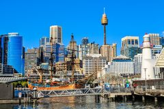 View of Darling Harbour, Sydney, Australia stock image
