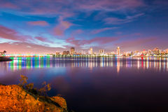 Looking towards Downtown Long Beach Stock Photography