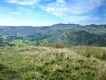 Looking towards Grasmere and Helm Crag Stock Photos
