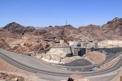 Looking towards the Hoover Dam stock images