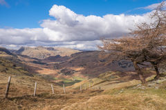 Looking towards Langdale Royalty Free Stock Photos
