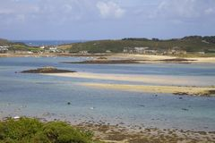 Looking towards New Grimsby from Bryher, Isles of Scilly, England Stock Photography