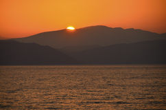 Looking towards Samos Stock Photography