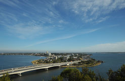 Looking towards South Perth from Kings Park. Royalty Free Stock Photo