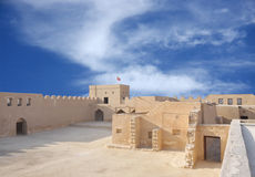 Looking towards southern area inside  Riffa Fort Royalty Free Stock Photos