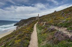 Looking towards Wheal Coates tin mine Stock Image