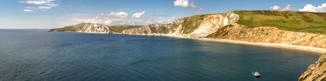 Worbarrow Bay, Jurassic Coast, Dorset, UK. Looking towards Worbarrow Bay, near Tyneham, Jurassic Coast, Dorset, UK Stock Photo