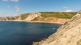 Worbarrow Bay, Jurassic Coast, Dorset, UK. Looking towards Worbarrow Bay, near Tyneham, Jurassic Coast, Dorset, UK Royalty Free Stock Photography