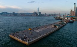 Looking tr, Hong Kong and Western Harbour, many Hong Kongers and tourists like to take pi. C Royalty Free Stock Photo