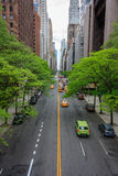 traffic along the 42nd street in Manhattan, New York Royalty Free Stock Photos
