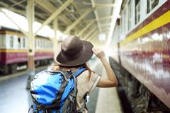 Looking for transportation royalty free stock photo