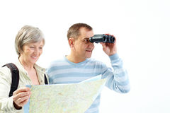 Looking for traveling Stock Photography