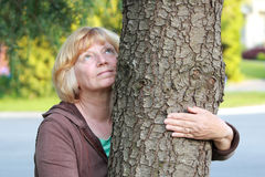 Looking at tree Stock Images