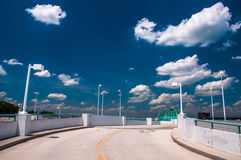Free Looking Up A Parking Garage Ramp, Under A Blue Summer Sky In Tow Stock Image - 47800861