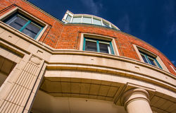 Looking up at an apartment building in Boston, Massachusetts. Stock Photography
