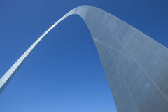 Looking up at the Arch. The Gateway Arch in St. Louis Missouri Stock Photos