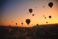Among the balloons