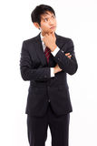 Looking up Asian business man Royalty Free Stock Photo
