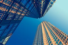 Free Looking Up At Business Buildings Stock Images - 156641474