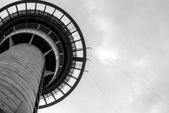 Black and white tower stock photos