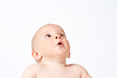 Looking up baby Royalty Free Stock Image