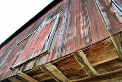 Looking up at a barn Royalty Free Stock Photography