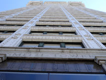 Looking up at the big beautiful view of Smith Tower building stock images