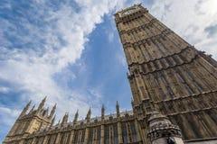 Looking up at Big Ben from Bridge Street Stock Image