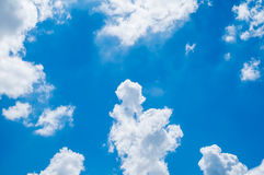 Looking up at Blue sky with cloudy Stock Photos
