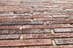 Looking Up at Bricks. An image taken looking up at a wall of bricks Royalty Free Stock Images