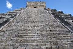 Looking up at Chichen Itza Stock Images