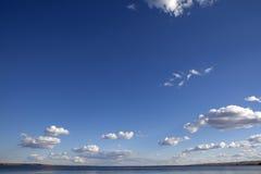 Looking up at clouds, Alberta Stock Image