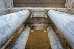 Looking up at columns at the Thomas Jefferson Memorial, Washingt Royalty Free Stock Photo