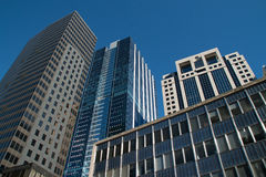 Looking Up At Downtown Chicago Skyscraper Buildings Royalty Free Stock Photos