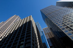 Looking Up At Downtown Chicago Skyscraper Buildings. Looking Up At Downtown Chicago's Beautiful and Unique Skyscraper Buildings Royalty Free Stock Photo