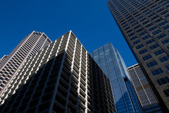 Looking Up At Downtown Chicago Skyscraper Buildings. Looking Up At Downtown Chicago's Beautiful and Unique Skyscraper Buildings Royalty Free Stock Image