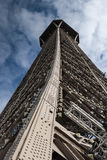 Looking up the Eiffel Tower Royalty Free Stock Photos