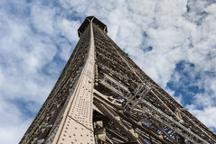 Looking up the Eiffel Tower Royalty Free Stock Photo