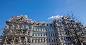 Looking Up at the Eisenhower Executive Office Building Stock Photos