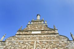 Looking up at Elizabethan gable Royalty Free Stock Photography