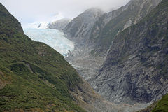 Looking up at  Franz Josef glacier Royalty Free Stock Image