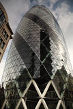 Looking up at the Gherkin London Stock Image