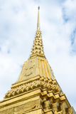 Looking up at gold pagoda Temple of the Emerald Buddha,Grand pal Stock Photography
