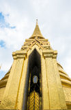 Looking up at gold pagoda Temple of the Emerald Buddha,Grand pal Stock Photo