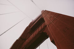 Looking up at the Golden Gate bridge Royalty Free Stock Images