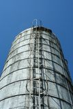 Looking up a grain silo Royalty Free Stock Photography