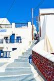Staircase luxury hotel villas Santorini island Greece Royalty Free Stock Photography