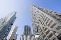 Looking up with Hancock. Building -  Chicago, IL Stock Photo