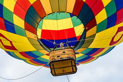 Looking Up at a Hot Air Balloon Stock Image